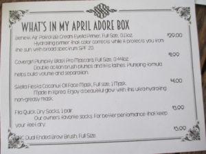 Adore Beauty Box