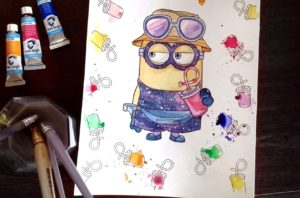 As Most Kids The Minions Are His Favorite And He Had Such A Blast Coloring Them I Love That This Book Gives Your Their Own Chance To Color